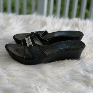 Guess black slippers size 8.5M
